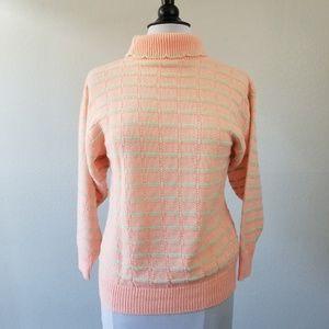 Sweaters - 2/$20 🌟 VTG Peach&Mint Turtleneck Knit Sweater M